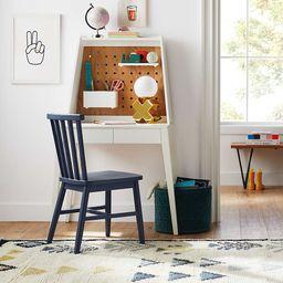 Atticus Small Kids Black Desk with Power & Hutch | Crate & Kids | Crate & Barrel