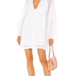 Sienna Linen Smock Dress in Optical White | Revolve Clothing (Global)