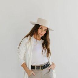 Dahlia Boater - Off White | Gigi Pip