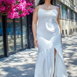 Maxi Slip Dress | Eloquii