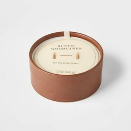 12oz Ceramic Wooden Wick Rustic Woodlands Candle - Threshold™ | Target