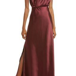 Classic Elegance Mock Neck Sleeveless Satin Gown   Nordstrom   Nordstrom