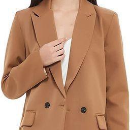 RZIV Women's Casual Long Sleeve Lapel Oversized Button Work Office Blazer Suit Jacket   Amazon (US)