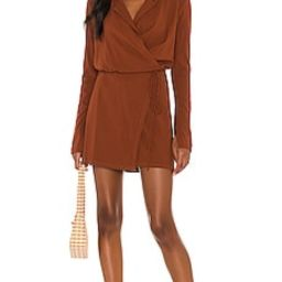 Free People Helena Wrap Dress in Coconut Shell from Revolve.com   Revolve Clothing (Global)