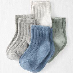 4-Pack Organic Cotton Rib Socks | Carter's