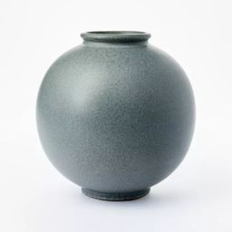 "10"" x 10"" Round Earthenware Vase Gray - Threshold™ designed with Studio McGee | Target"