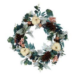 "Way to Celebrate Harvest Floral Wreath, 21"" D | Walmart (US)"