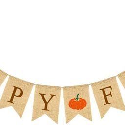 Laqula Happy Fall Pumpkin Burlap Banner Fall Decor for Home Thanksgiving Decor Fall Home Decorati... | Walmart (US)