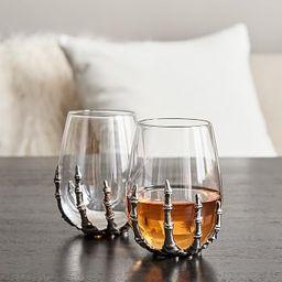 Skeleton Hand Stemless Wine Glass | Pottery Barn (US)