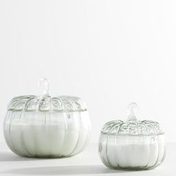 Recycled Glass Harvest Pumpkin Scented Candle | Pottery Barn (US)
