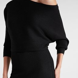Off the Shoulder Midi Sweater Dress   Express