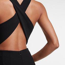 V-Neck Cross-Back Knit Jumpsuit   Express