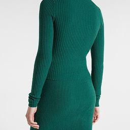 Fitted Ribbed Crew Neck Sweater   Express