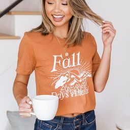 Fall Days Ahead Burnt Orange Graphic Tee | The Pink Lily Boutique