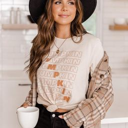 Pumpkin Multi Cream Graphic Tee | The Pink Lily Boutique