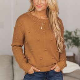 What You Seek Brown Sweater | The Pink Lily Boutique