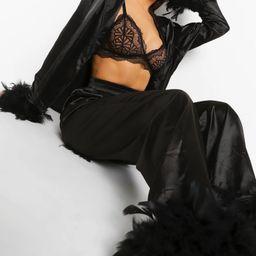Premium Feather Trim Pajamas | Boohoo.com (US & CA)