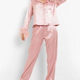 Premium Maid Of Honour Feather Pajamas | Boohoo.com (US & CA)