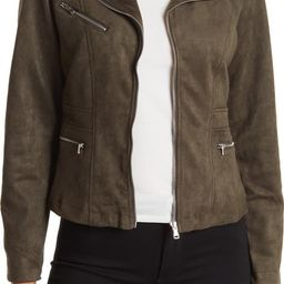 Scuba Faux Suede Moto JacketOOKIE AND LALA | Nordstrom Rack