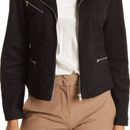 Faux Suede Cropped Moto JacketOOKIE AND LALA | Nordstrom Rack