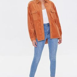 Corduroy Frayed High-Low Shacket | Forever 21 (US)
