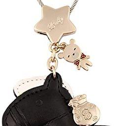 MILESI Horse Leather Keychain for Women Cute Key Ring for Car Key | Amazon (US)