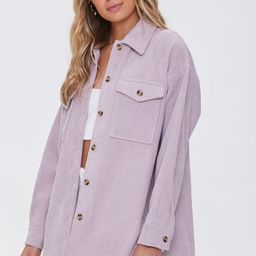 Corduroy Button-Front Shacket | Forever 21 (US)
