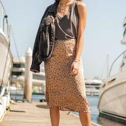 Leena Leopard Midi Skirt   Bohme