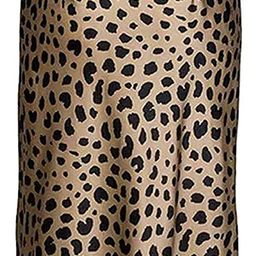 Leopard Skirt for Women Midi Length High Waist Silk Satin Elasticized Cheetah Skirts   Amazon (US)
