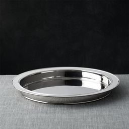 Easton Stainless Steel Serving Tray + Reviews   Crate and Barrel   Crate & Barrel