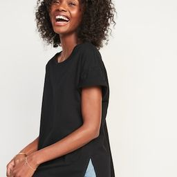 Oversized Vintage Garment-Dyed Tunic T-Shirt for Women | Old Navy (US)