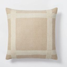 Oversized Woven Cotton Wool Windowpane Square Throw Pillow Brown - Threshold™ designed with Stu...   Target