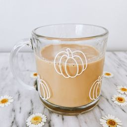 Pumpkin Mug | Clear Glass Mug | Fall Mug | Fall Decor | Pumpkin Lover | Etsy (US)