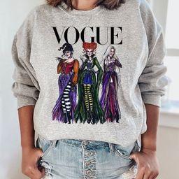 Sanderson Sisters Vogue Sweatshirt, Fall Womens, Halloween Sweatshirts, Sanderson Sweatshirts, Ho... | Etsy (US)