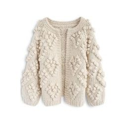 Knit Your Love Cardigan in Ivory | Chicwish