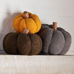 Festive Fall Collection Shearling Pumpkin Decor | Dillards