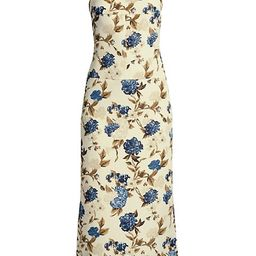 Mixed Floral Strappy-Back Midi Dress | Saks Fifth Avenue