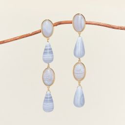 Anita Earrings Light Blue | Mignonne Gavigan