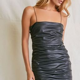 Ruched Faux Leather Mini Dress | Forever 21 (US)
