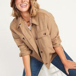 Soft-Brushed Utility Shirt Jacket for Women   Old Navy (US)