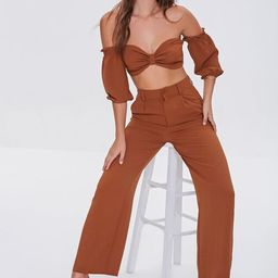 Crop Top and High-Rise Pants Set | Forever 21 (US)