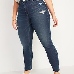 High-Waisted Rockstar Dark-Wash Super Skinny Cut-Off Jeans for Women   Old Navy (US)