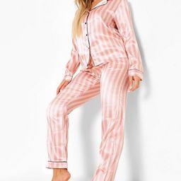 Candy Stripe Pajama Set | Boohoo.com (US & CA)