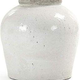 EuroLux Home Jar Vase White Black Pottery Ceramic | Amazon (US)