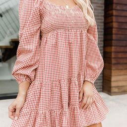 Apple Picking Red Gingham Mini Dress | The Pink Lily Boutique