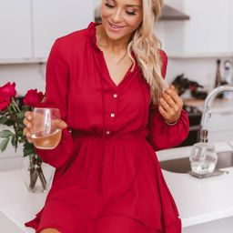 Layered With Happiness Burgundy Dress | The Pink Lily Boutique