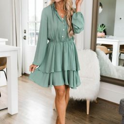 Layered With Happiness Dress Olive | The Pink Lily Boutique