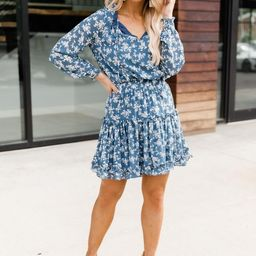 Isn't It Ironic Blue Floral Dress | The Pink Lily Boutique