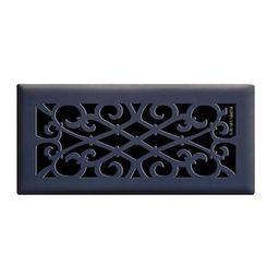 Hampton Bay Elegant Scroll 4 in. x 10 in. Steel Floor Register in Matte Black-E1402-MB 04X10 - Th...   The Home Depot