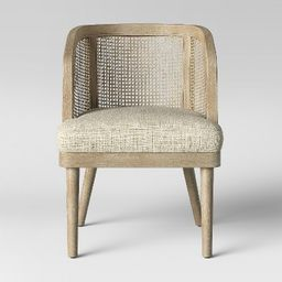 Juniper Cane and White Washed Wood Barrel Chair - Opalhouse™ | Target